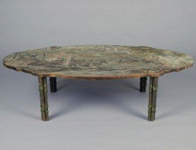 LA VERNE BRONZE AND PEWTER LOW TABLE