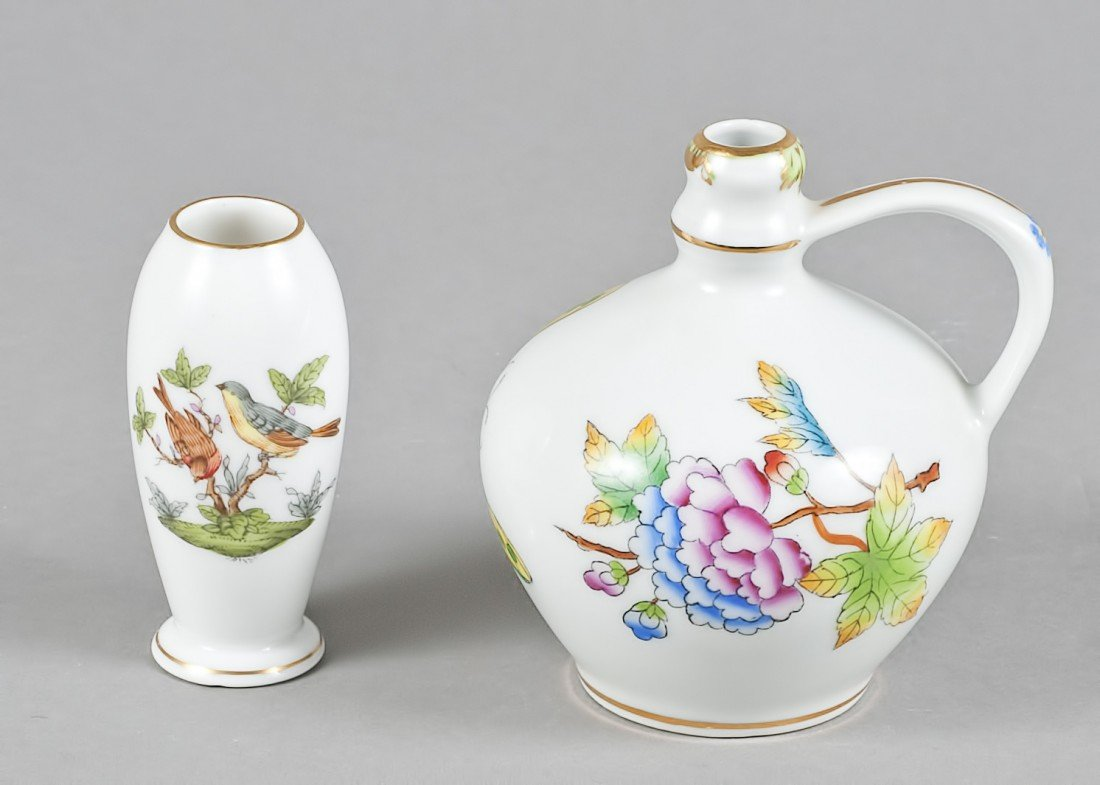149: TWO HEREND PORCELAIN CABINET PIECES