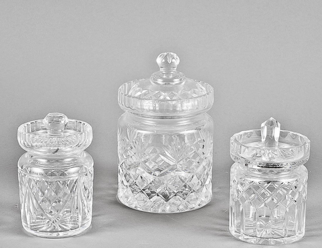 151: WATERFORD CRYSTAL JAM JAR AND COVER