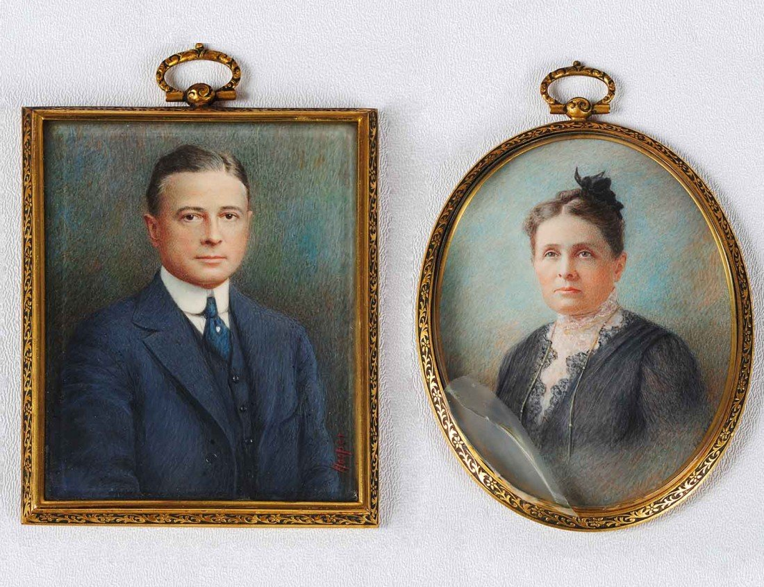 13: TWO MINIATURE PAINTINGS ON IVORY
