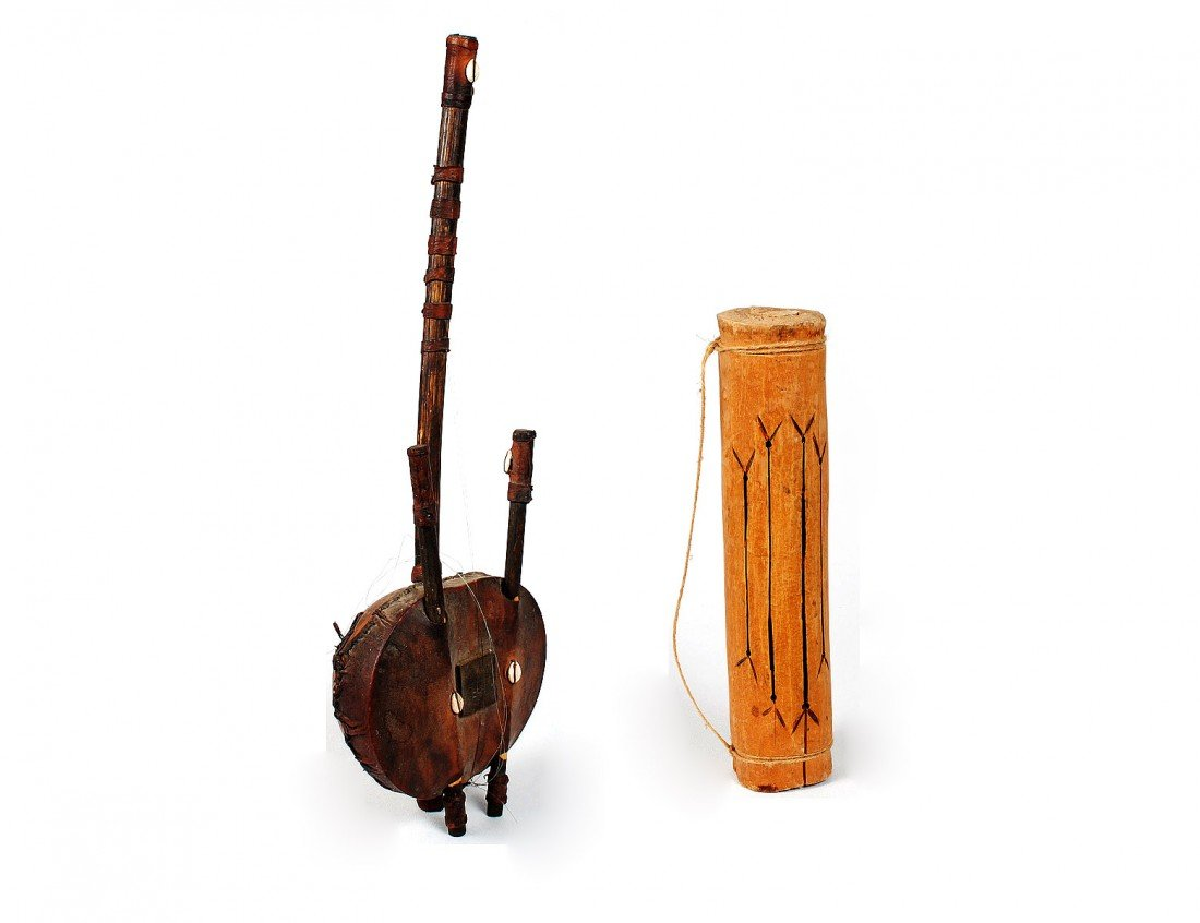 280: TWO AFRICAN TRIBAL INSTRUMENTS