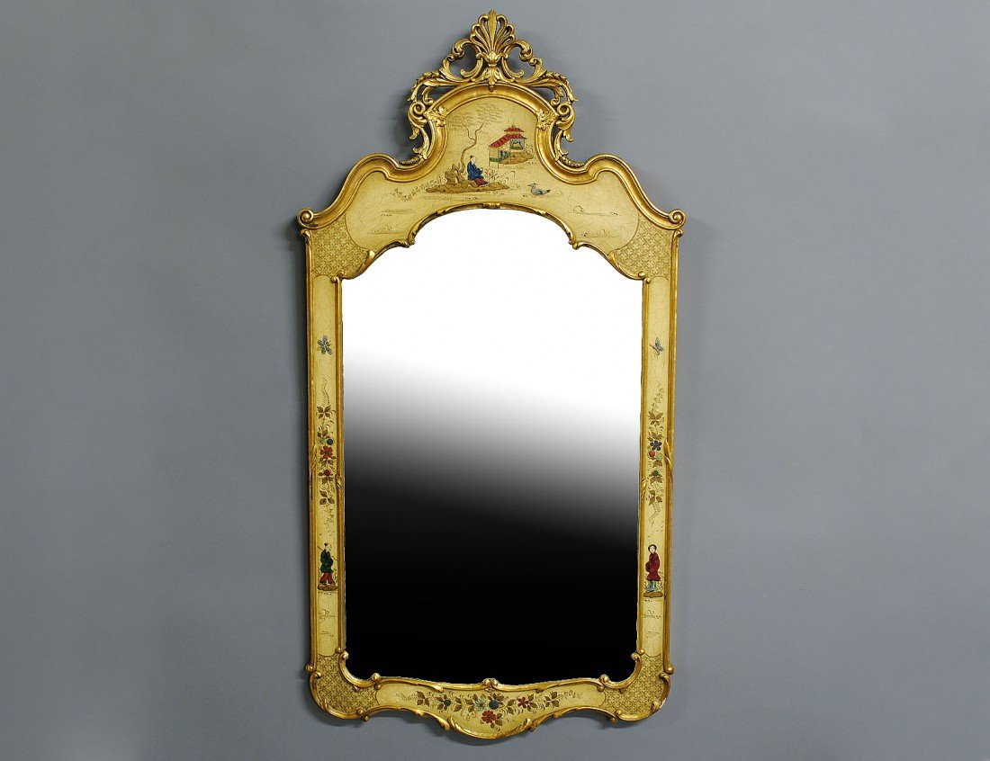 22: CHINOISERIE DECORATED MIRROR