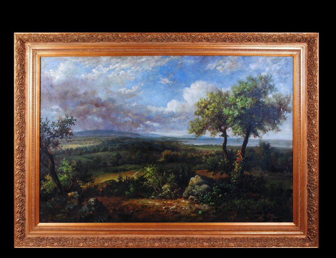 258: LARGE 20th CENTURY OIL ON CANVAS