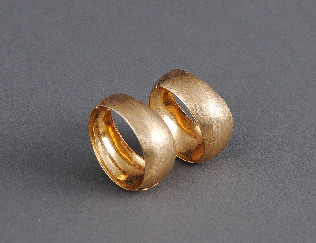 17: PAIR OF FOURTEEN KARAT GOLD EAR CLIPS