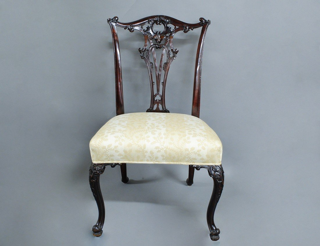 139: SET OF EIGHT GEORGE IV MAHOGANY DINING SIDE CHAIRS