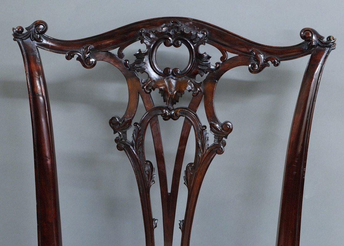 139: SET OF EIGHT GEORGE IV MAHOGANY DINING SIDE CHAIRS - 2