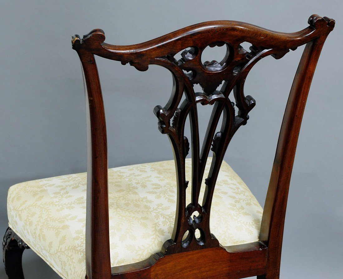 139: SET OF EIGHT GEORGE IV MAHOGANY DINING SIDE CHAIRS - 4