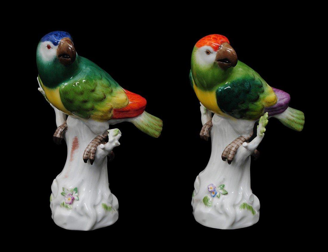 15: TWO MEISSEN PORCELAIN BIRDS
