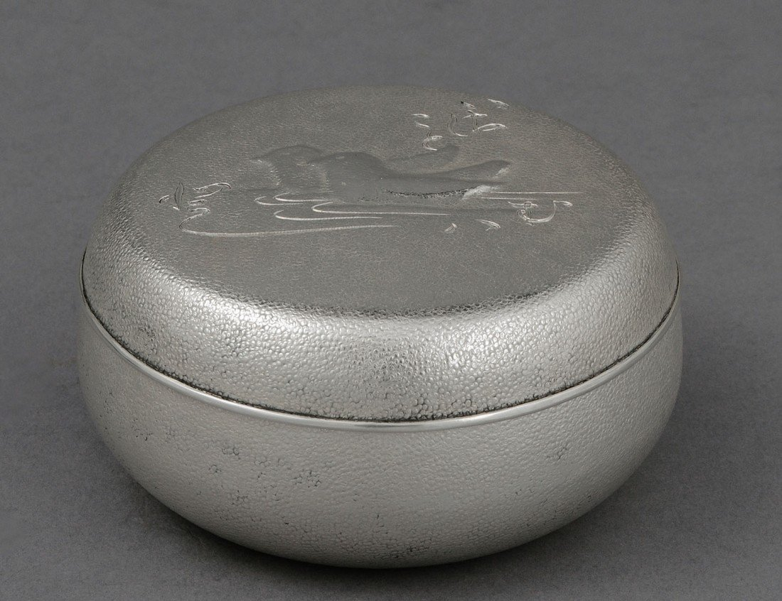 30: SILVER BOX AND COVER