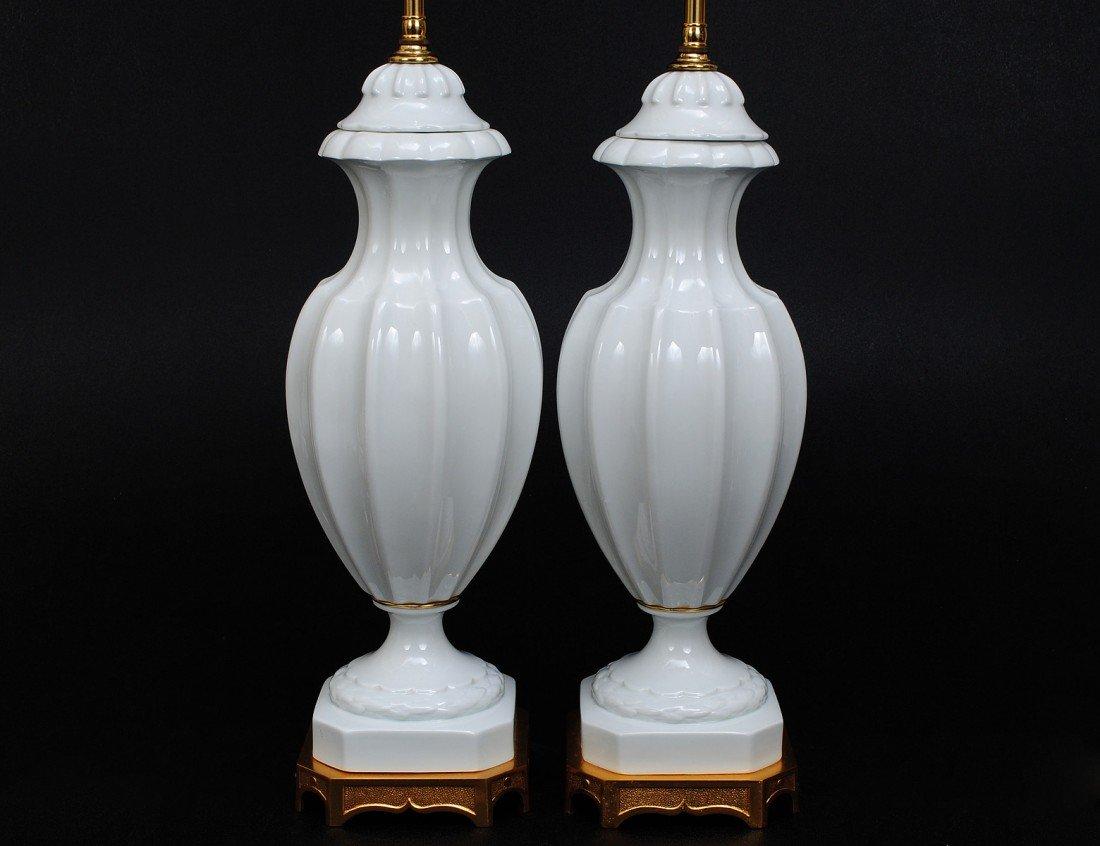 37: PAIR OF BLANC DE CHINE PORCELAIN LAMPS