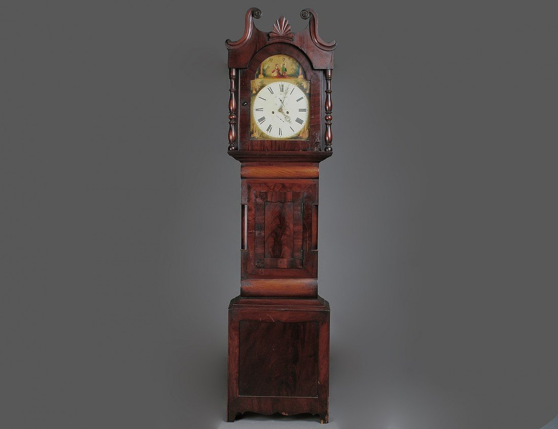 58: LATE CHIPPENDALE MAHOGANY TALL CASE CLOCK