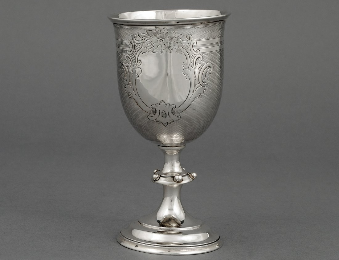 32: COIN SILVER CHALICE