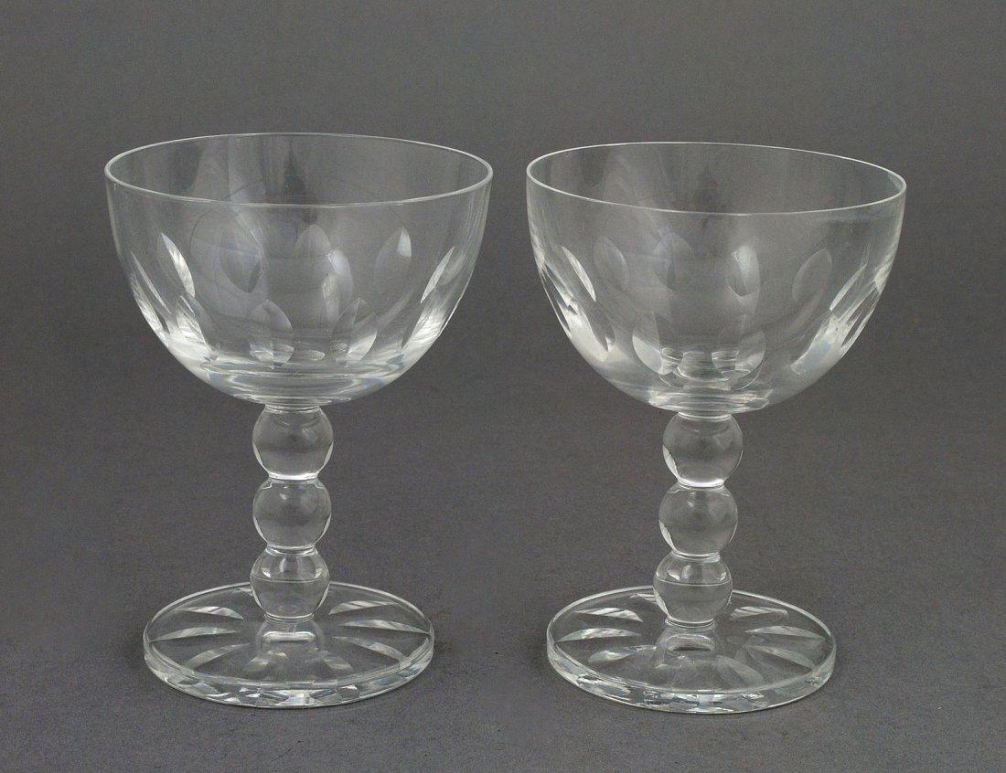 65: SET OF TWELVE LALIQUE CRYSTAL CHAMPAGNE GLASSES