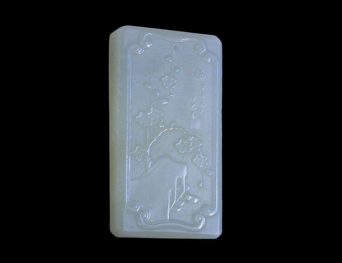 95: WHITE JADE PLAQUE