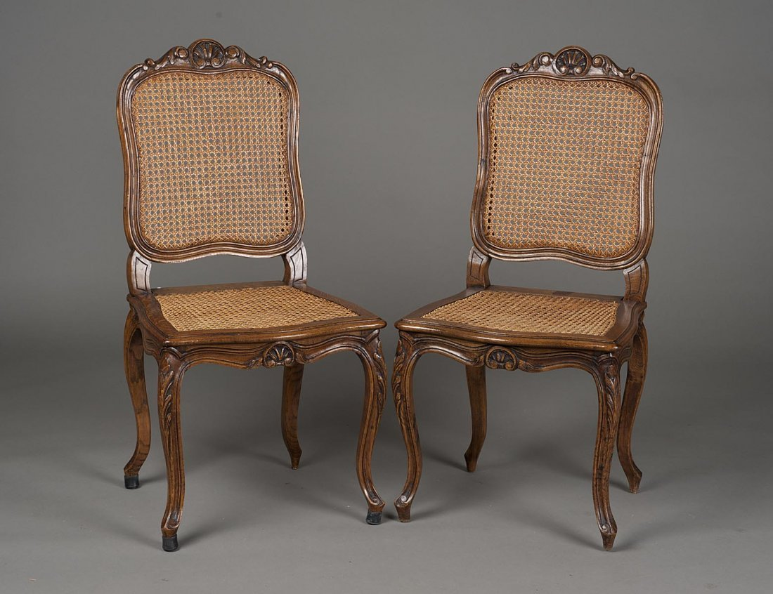 106: SET OF FOUR PROVINCIAL STYLE OAK SIDE CHAIRS