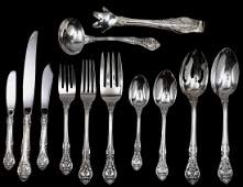 117: NINETY-TWO PIECE STERLING SILVER PART FLATWARE SET
