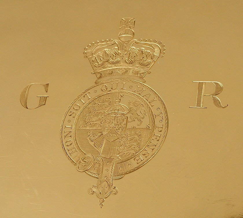 188: OUTSTANDING AND IMPORTANT GEORGE IV GILT SILVER SA - 7