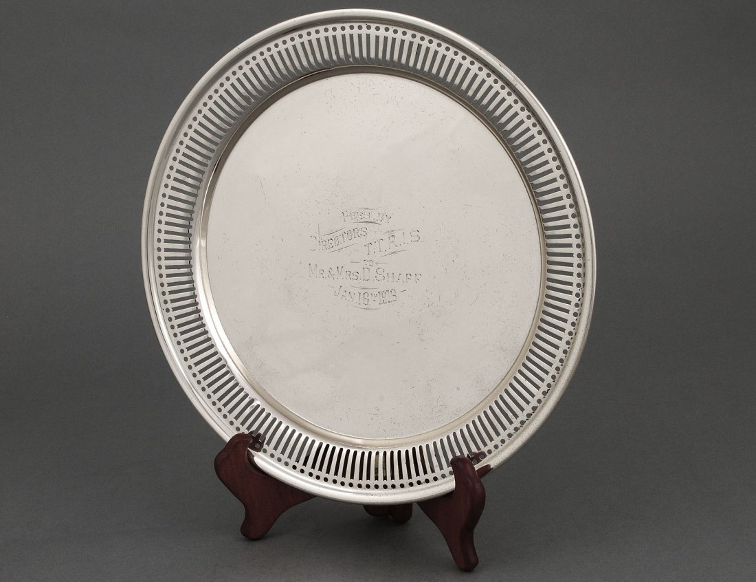 327: STERLING SILVER TRAY