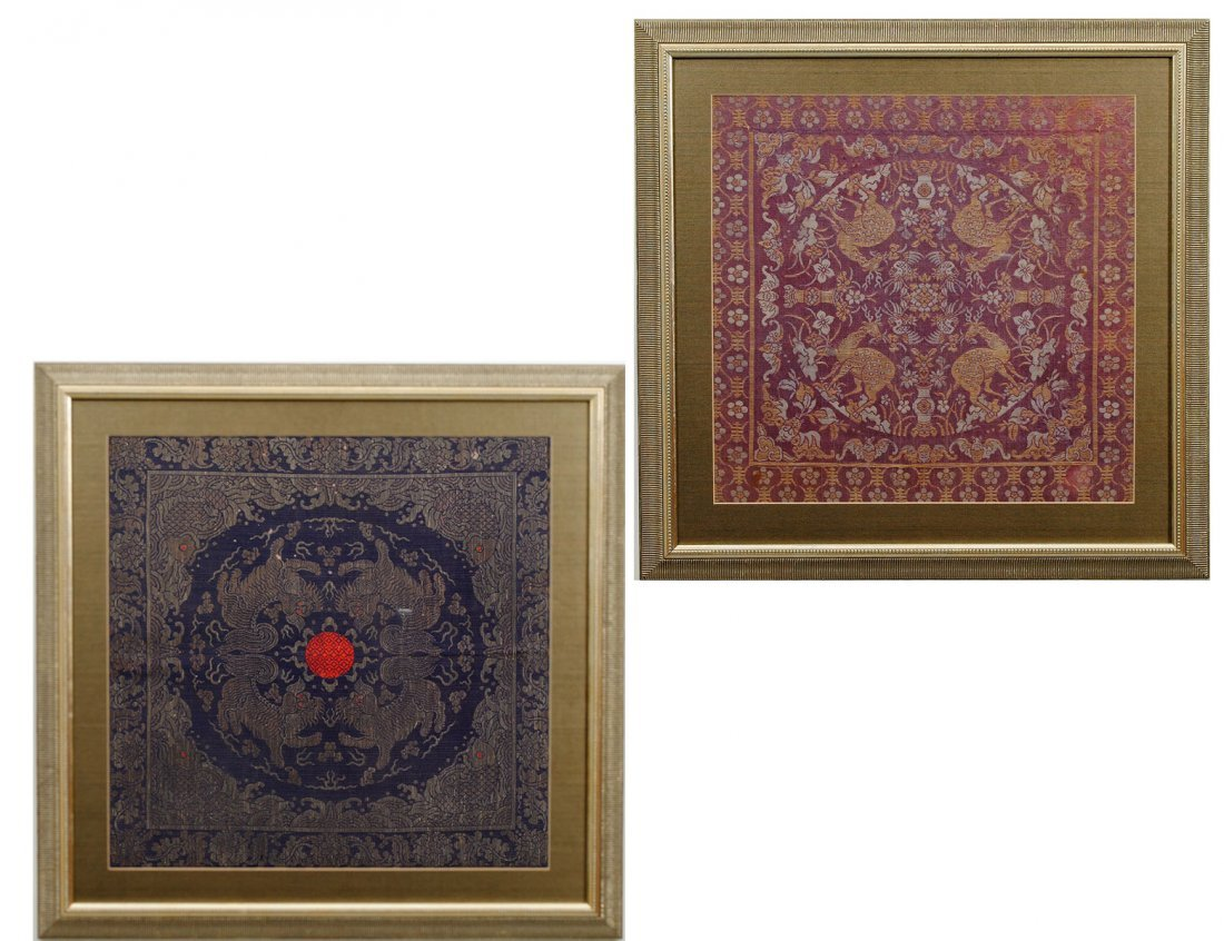 366: TWO CHINESE WOVEN TAPESTRIES