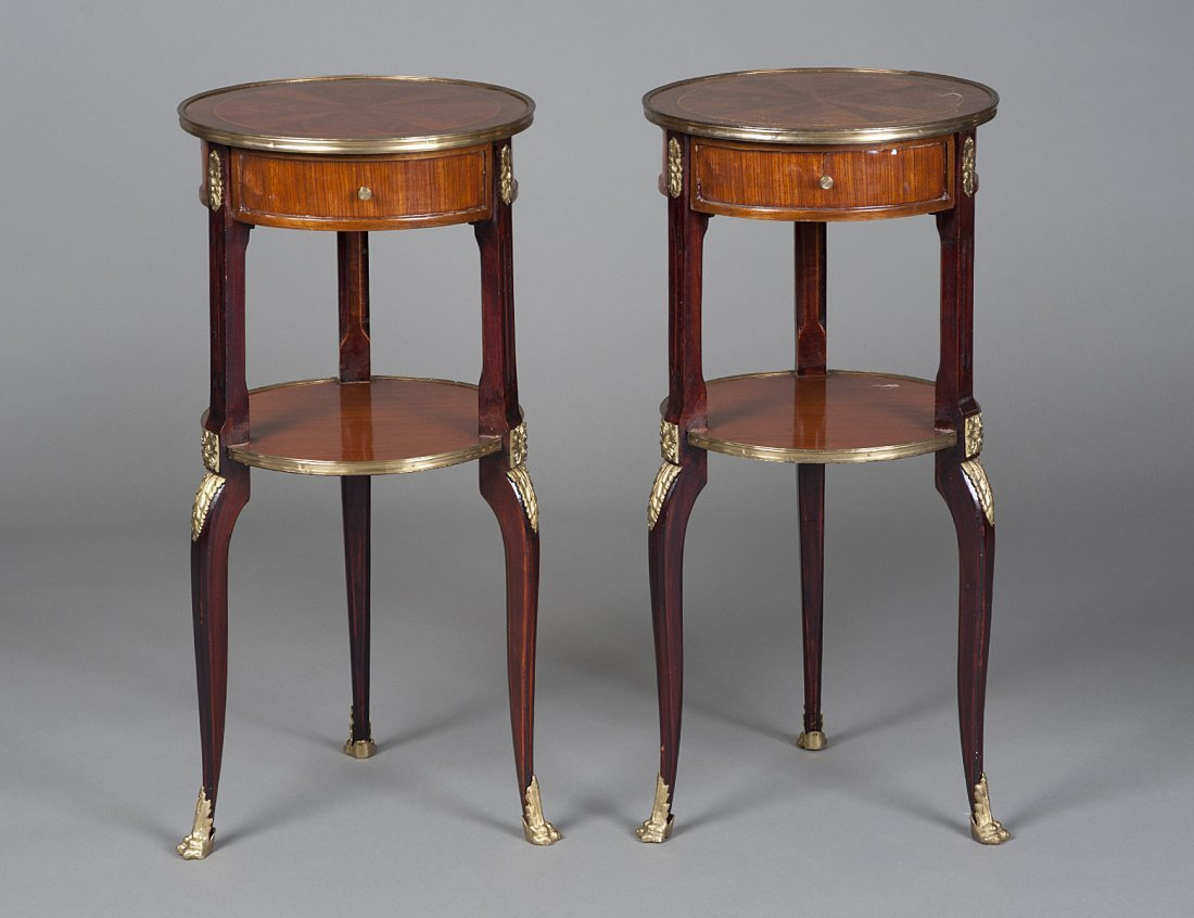 379: LOUIS XV STYLE PARQUETRY SIDE TABLES
