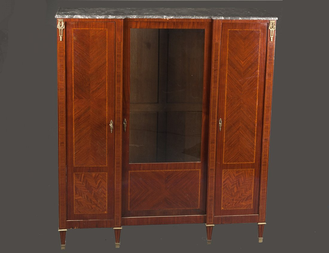 380: LOUIS XV STYLE PARQUETRY BIBLIOTEQUE