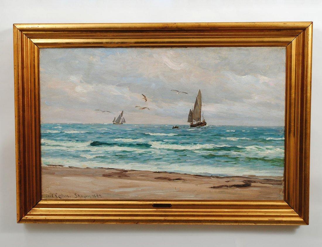 384: CARL LOCHER (Danish. 1851-1915)