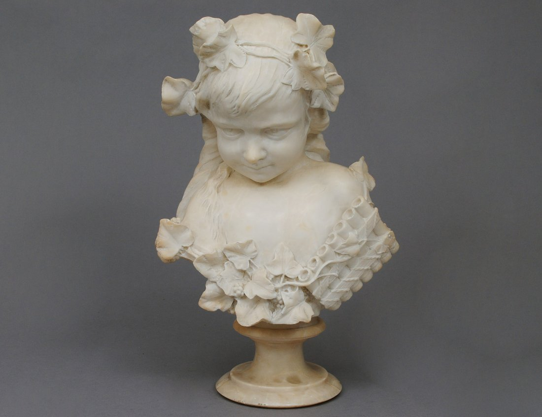 386: ALABASTER BUST OF A YOUNG CHILD