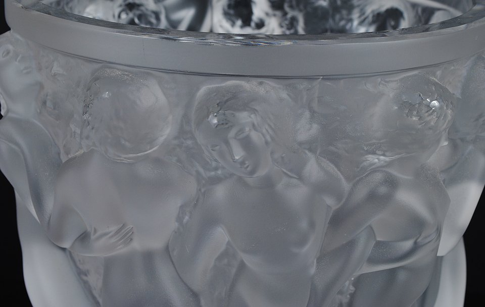 """448: LALIQUE MOLDED AND FROSTED CRYSTAL """"BACCHANTES"""" VA - 2"""