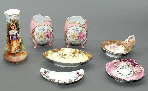 2: Seven Pieces Hand Painted Signed Porcelain