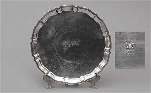 Gorham Sterling Chippendale Salver Tray