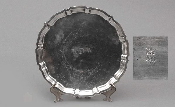 8: Gorham Sterling Chippendale Salver Tray