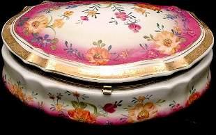Covered Floral Porcelain Box