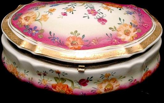 9: Covered Floral Porcelain Box