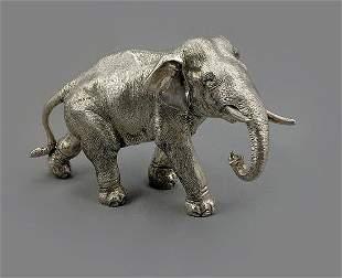 Large 925 Sterling Silver Elephant Signed