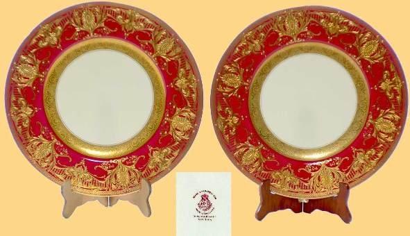 220: Set of Twelve Royal Worcester Gilded Service Plate