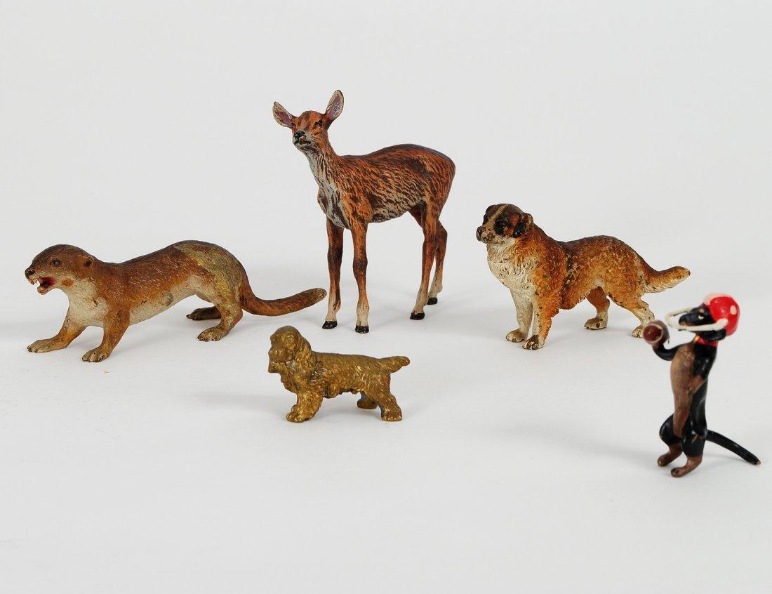 2: GROUP OF THREE VIENNA COLD PAINTED BRONZE ANIMALS