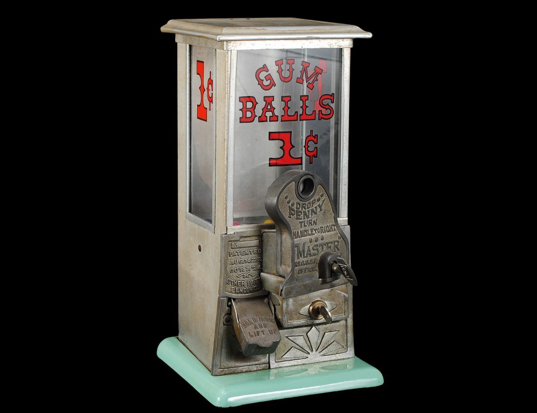 23: VINTAGE ONE CENT GUMBALL MACHINE