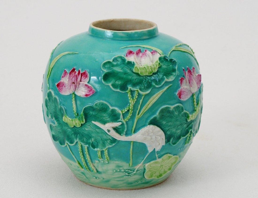 311: GOOD POTTERY JAR