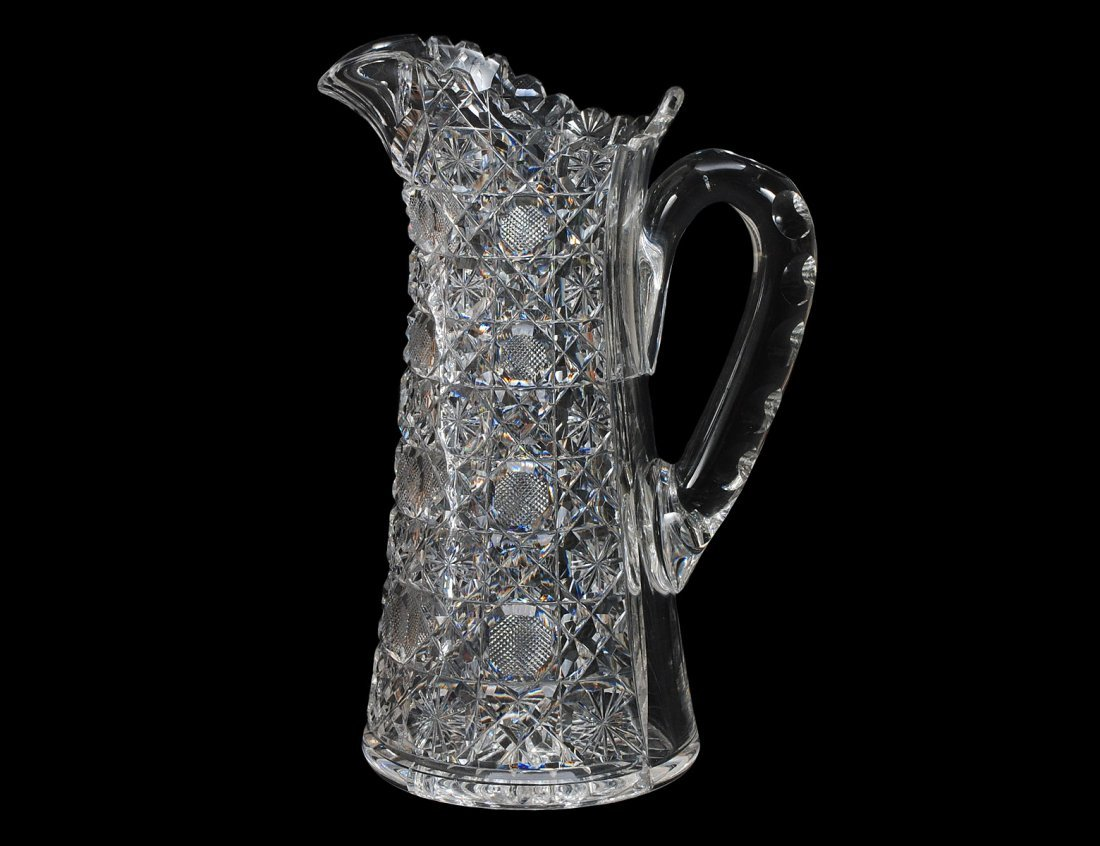 315: CUT GLASS PITCHER