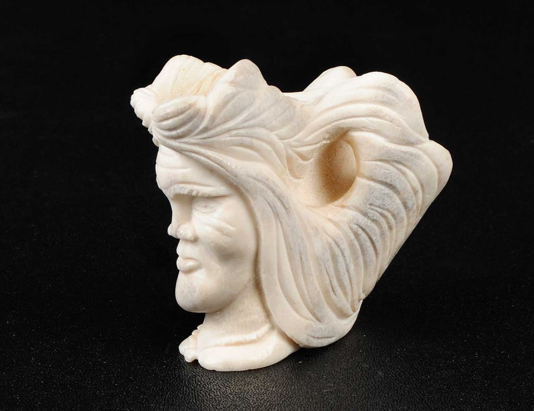 9: CARVED BONE SPIRIT HEAD