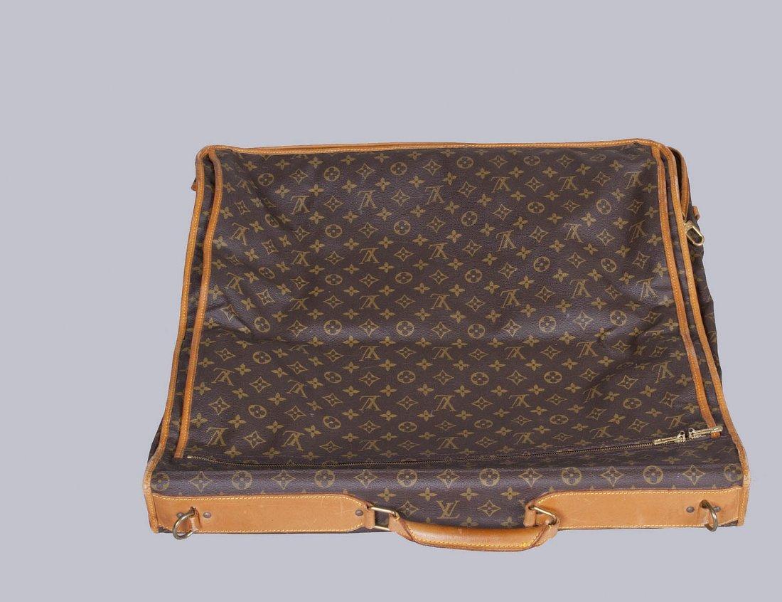24: L. VUITTON SIGNATURE CANVAS AND LEATHER GARMENT BAG