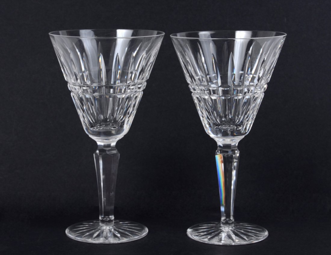 1: SET OF EIGHT WATERFORD CRYSTAL WINE GLASSES