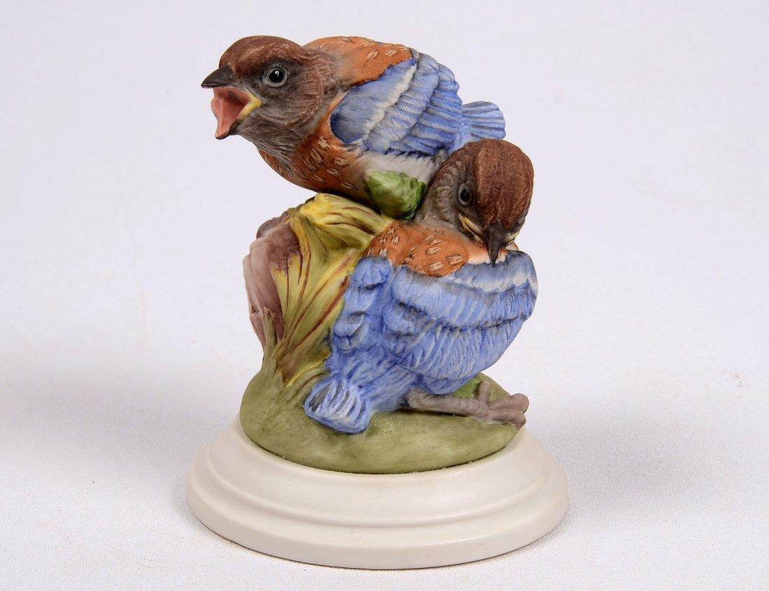 "4: BOEHM PORCELAIN GROUP ""FLEDGLING WESTERN BLUEBIRDS"