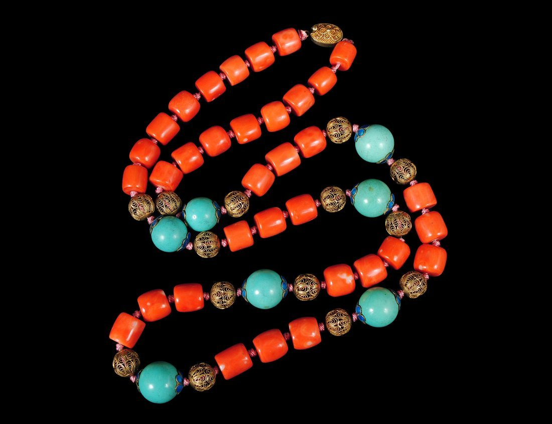 13: CORAL NECKLACE