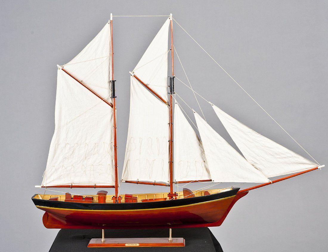 23: SHIP MODEL OF A SCHOONER