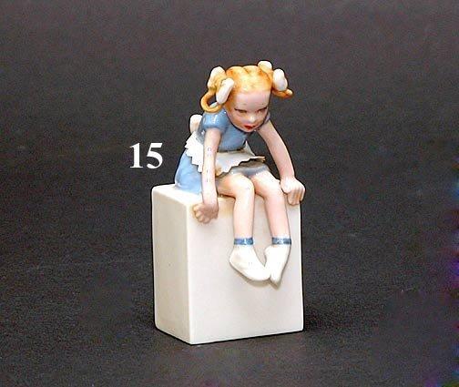 15: LENOX FIGURE GIRL ON PEDESTAL