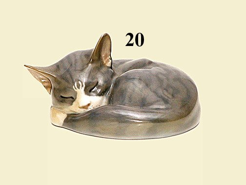 "20: ROYAL COPENHAGEN ""SLEEPING CAT"