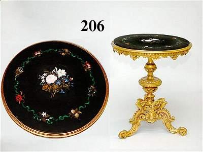 206: ITAL. 19THC PIETRA DURA/MARBLE TABLE