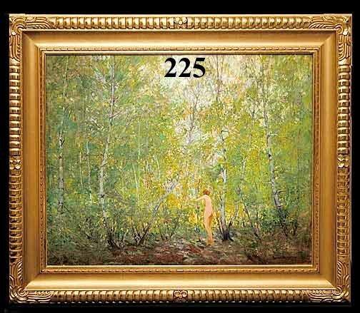 "225: EMILE A. GRUPPE ""A WOODLAND NYMPH"" O/C"