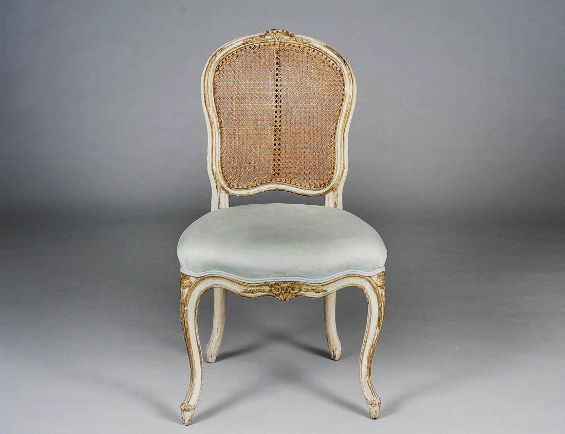 18: NEO-CLASSICAL PAINTED SIDE CHAIR